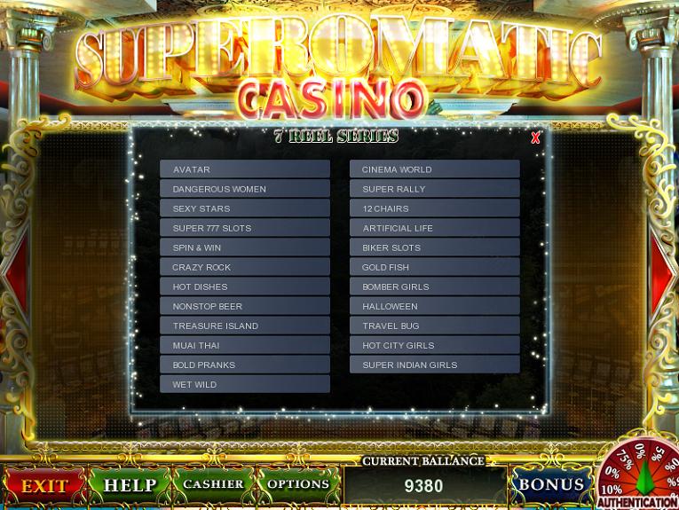 оригинальная игровая система superomatic casino