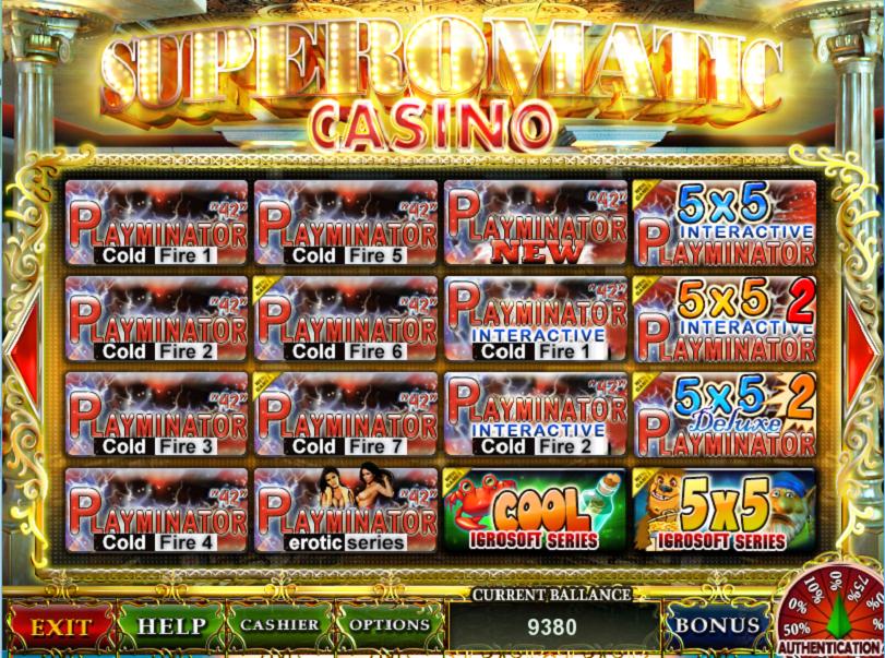 оригинальная игровая система супероматик казино